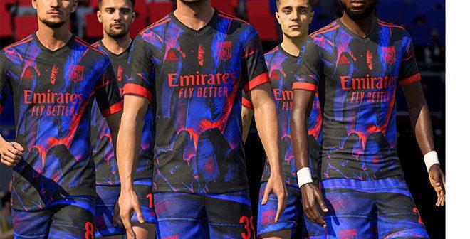L'Olympique Lyonnais dévoile son 4e maillot digital dans FIFA 21